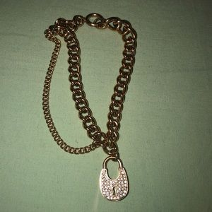 Michael Kors rose gold lock bracelet